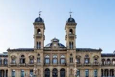Rathaus in San Sebastian - Donostia, Spanien lizenzfreie stockbilder