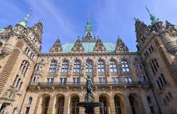 Rathaus - Stadt, Hamburg, Duitsland royalty-vrije stock afbeelding
