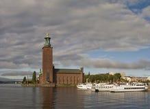 Rathaus in Stockholm Stockfotos