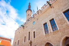Rathaus in Tallinn lizenzfreie stockfotos