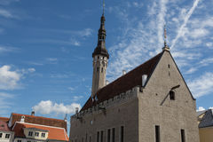 Rathaus in Tallinn, Estland Stockfotos
