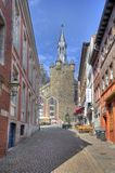 Rathaus torn i Aachen, Tyskland Royaltyfria Foton