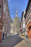 Rathaus torn i Aachen, Tyskland Arkivfoton