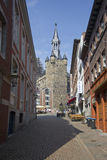 Rathaus Tower in Aachen, Germany Royalty Free Stock Photos