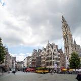 Rathaus und alte Stadt in Antwerpen Stockfoto