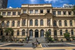 Rathaus und der alte Tempel des Kaisers Augustus Stockbilder