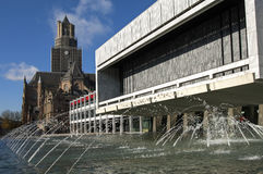 Rathaus und Kirche St. Eusebius, Arnhem stockbilder