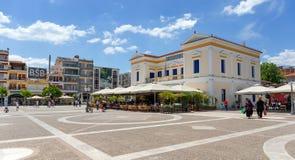 Rathaus und zentraler Platz, Sparta, Griechenland Lizenzfreies Stockfoto