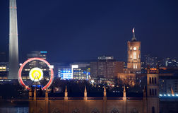 Rathaus van Berlijn rotes townhall Stock Foto