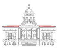 Rathaus-vektorabbildung Lizenzfreie Stockfotografie