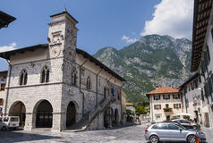 Rathaus in Venzone Lizenzfreie Stockfotografie