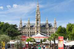 Rathaus, Viena, Áustria Fotografia de Stock