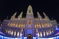 Rathaus, Viena, Austria Foto de archivo libre de regalías