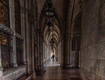 Rathaus, Viena Ciudad Hall Architecture en Viena, Austria Imagenes de archivo