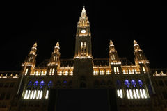 Rathaus in Vienna, Austria Royalty Free Stock Images