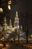 Rathaus of Vienna at Christmas Stock Photos