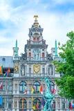 Rathaus von Antwerpen, Belgien Stockbilder