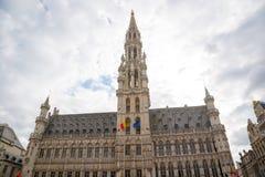 Rathaus von Brüssel in Grand Place Lizenzfreie Stockbilder
