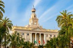 Rathaus von Cadiz, Spanien lizenzfreies stockbild