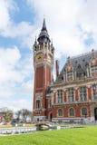 Rathaus von Calais, Frankreich lizenzfreie stockbilder