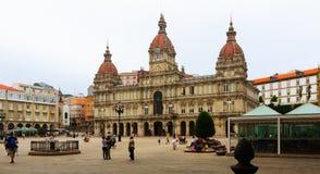 Rathaus von einem Coruna Galizien Lizenzfreie Stockfotos