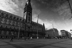 Rathaus von Hamburg Stockbild