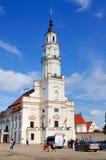 Rathaus von Kaunas, Litauen Stockbild