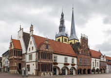 Rathaus von Lemgo, Deutschland stockfotografie