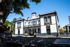 Rathaus von Machico auf der Insel von Madeira Portugal Stockbilder