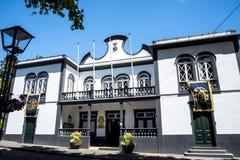 Rathaus von Machico auf der Insel von Madeira Portugal Lizenzfreie Stockfotos
