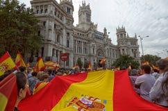 Rathaus von Madrid-Feiern Lizenzfreies Stockbild