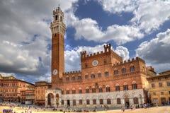 Rathaus von Siena, Italien Stockbilder
