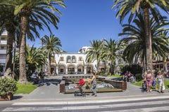 Rathaus von Sta Eularia Stockfotos