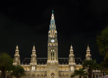 Rathaus w Wiedeń Austria Zdjęcia Stock