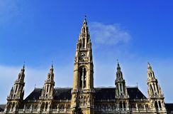 rathaus wien Obrazy Royalty Free