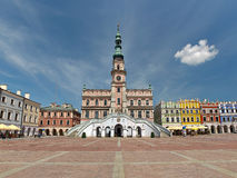 Rathaus in Zamosc stockfoto