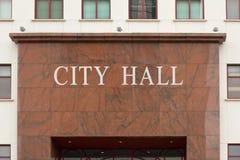 Rathaus-Zeichen Stockfotos