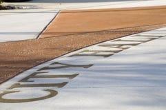 Rathaus-Zeichen auf dem Boden Lizenzfreie Stockfotos