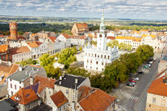 Rathausgebäude - Chelmno, Polen. Stockbilder