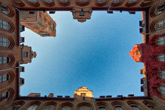 Rathaushof Stockfotos