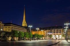 Rathausmarkt, a square in Hamburg Royalty Free Stock Photos