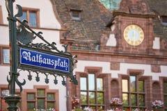 Rathausplatz (τετράγωνο Δημαρχείων), freiburg Im Breisgau στοκ φωτογραφία