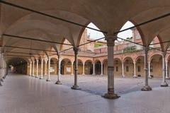 Rathausplatz im Bologna lizenzfreie stockfotos