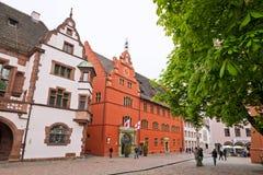 Rathausplatz (Town hall square) in Freiburg im Breisgau, Germany Stock Photography
