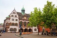 Rathausplatz (Town hall square) in Freiburg im Breisgau, Germany Royalty Free Stock Photography