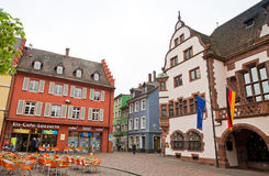 Rathausplatz (Town hall square) in Freiburg im Breisgau, Germany Royalty Free Stock Photos