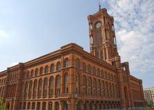 柏林德国大厅rathaus红色rotes城镇 免版税库存照片