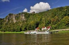Rathen cerca de Bastei en Sajonia Imagen de archivo libre de regalías