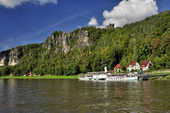 Rathen near Bastei in saxony Royalty Free Stock Images