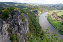 Rathen vicino a Bastei in Sassonia fotografia stock